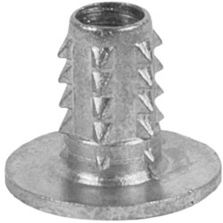 Threaded Knock-In Inserts for Soft Woods and Plastics